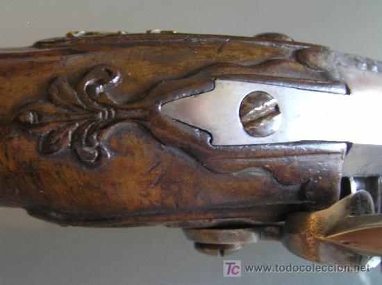 Militaria: Pareja de pistolas de chispa de 1740 originales dignas de museo - Foto 3 - 27519697