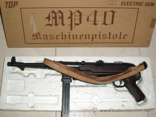 MP40 (MASCHINENPISTOLE WH,LW)TOP MP -40 [ AIRSOFT ] PISTOLA ELÉCTRICA. FABRICANTE: TOP , JAPÓN (Militar - Réplicas de Armas de Fuego y CO2 )
