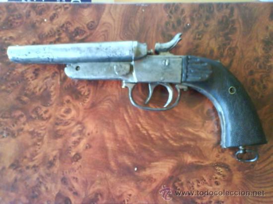 PISTOLA DOS CAÑONES CAL.44 DE FUEGO CENTRAL. (Militar - Armas de Fuego Inutilizadas)