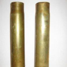 Militaria: PAREJA DE VAINA DE OBUS INERTE C47 FN 1933 1938. Lote 24509351