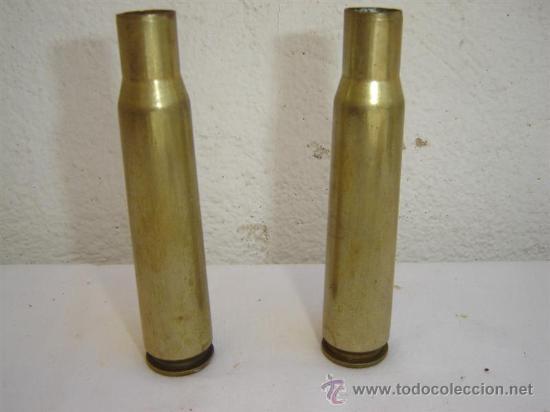 2 CASQULLOS DE PROYECTIL (Militar - Cartuchería y Munición)
