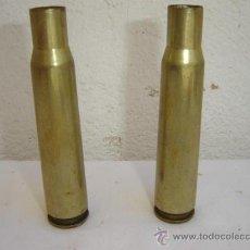 Militaria: 2 CASQULLOS DE PROYECTIL. Lote 26556609