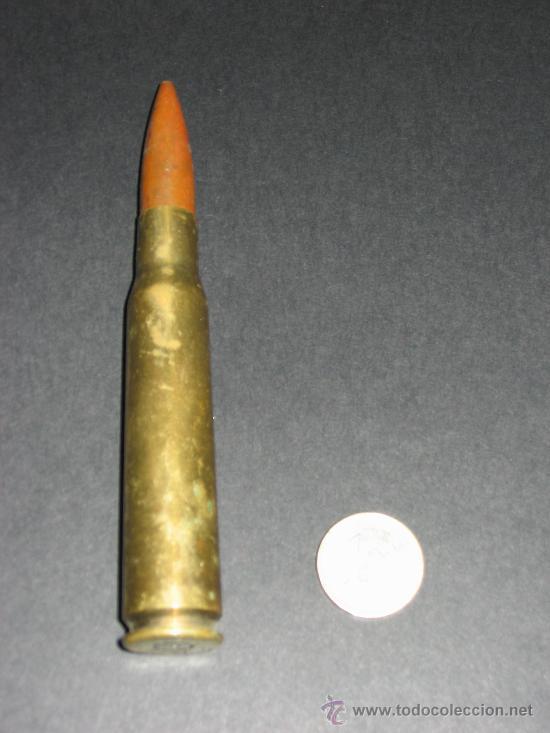 CARTUCHO O BALA COMPLETA.12,7 X 99 SB 72 . INERTE, (Militar - Cartuchería y Munición)