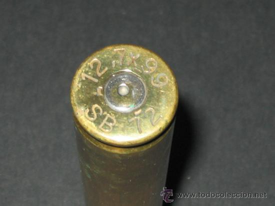 Militaria: Cartucho o bala completa.12,7 x 99 SB 72 . Inerte, - Foto 3 - 134740819