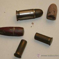 Militaria: LOTE DE CASQUILLOS INERTES VARIOS CALIBRES.. Lote 28634367