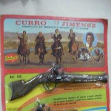 Militaria: ANTIGUO BLISTER COLECCION DE TRABUCO Y PISTOLA DETONADORA DE CURRO JIMENEZ NUEVO PRECINTADO. Lote 68805027
