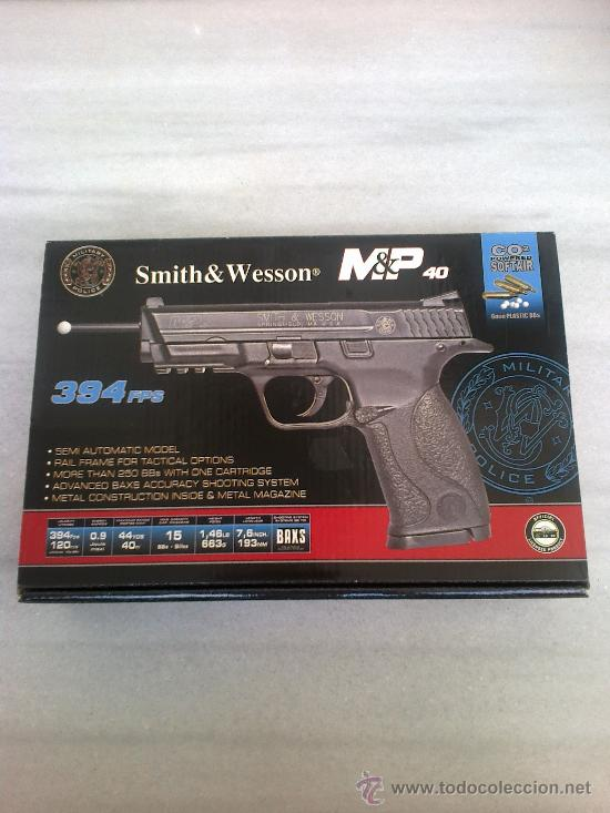 Pistola smith & wesson m p 40 co2 bolas 6mm - Sold at