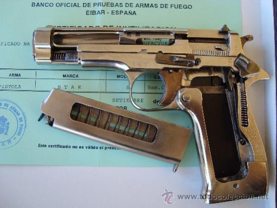 Militaria: PISTOLA SECCIONADA PARA ENSEÑANZA, STAR S CALIBRE 9 CORTO (380 AUTO). - Foto 4 - 37504349