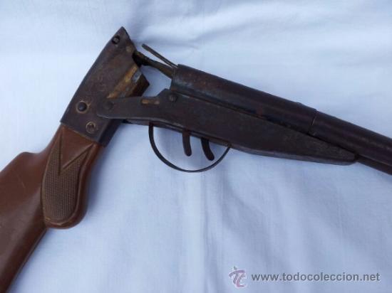 Militaria: Escopeta de juguete antigua marca JEFE años 50 aproxi. - Foto 4 - 39161522