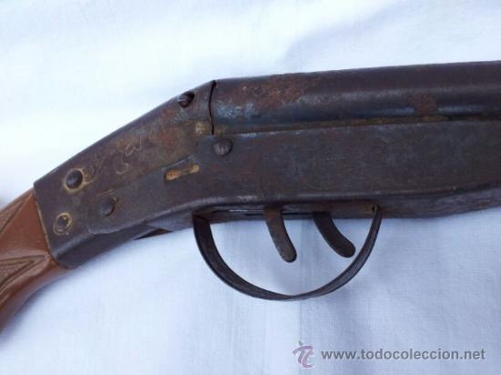 Militaria: Escopeta de juguete antigua marca JEFE años 50 aproxi. - Foto 3 - 39161522