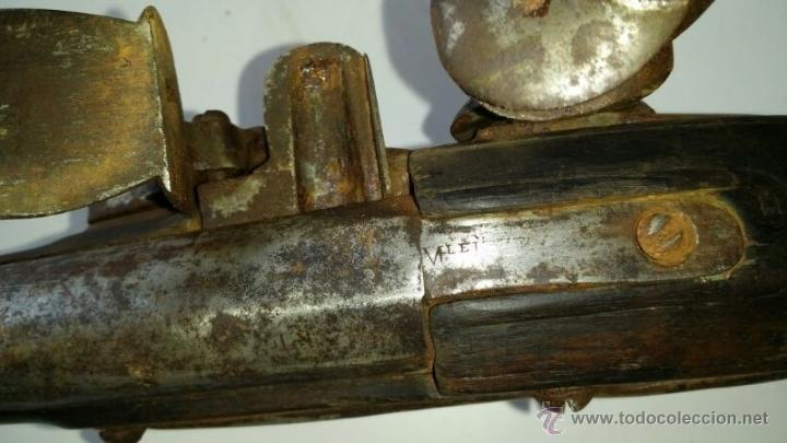 Militaria: antigua escopeta o fusil de pedernal o silex, pieza original y completa. Una belleza - Foto 4 - 44086061