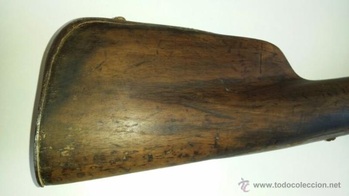 Militaria: antigua escopeta o fusil de pedernal o silex, pieza original y completa. Una belleza - Foto 10 - 44086061