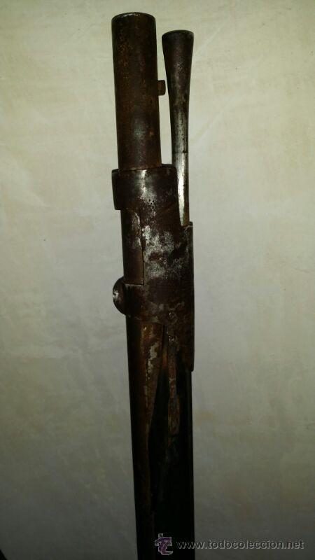 Militaria: antigua escopeta o fusil de pedernal o silex, pieza original y completa. Una belleza - Foto 13 - 44086061