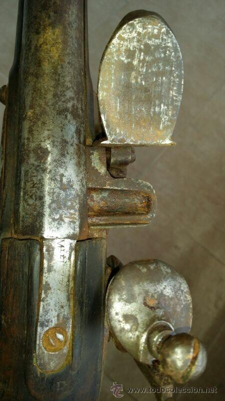 Militaria: antigua escopeta o fusil de pedernal o silex, pieza original y completa. Una belleza - Foto 16 - 44086061