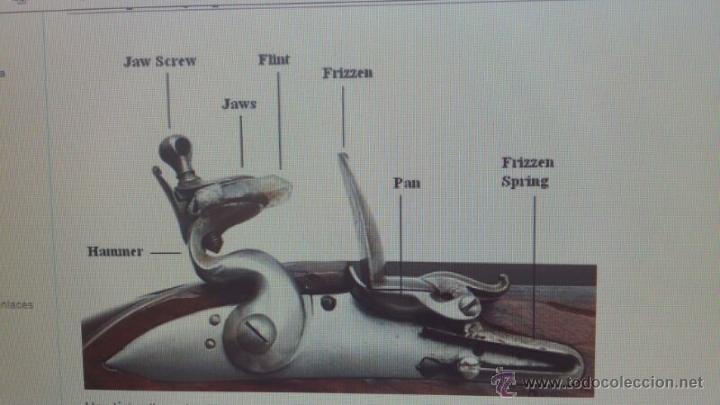 Militaria: antigua escopeta o fusil de pedernal o silex, pieza original y completa. Una belleza - Foto 19 - 44086061