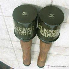 Militaria: GRANADA DE MANO ALEMANA M24, 2 UNIDADES (REPRO INERTE). Lote 130479243