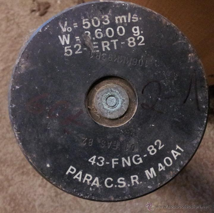 Militaria: Vaina de 106 mm, sin retroceso, INERTE - Foto 2 - 44913198