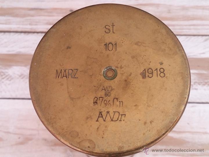 Militaria: Cuerpo de vaina de bronce alemana tallada y decorada.1918. Primera guerra mundial - Foto 3 - 114353012