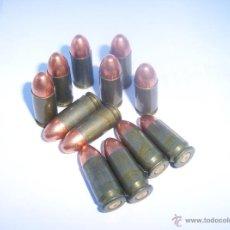 Militaria: MUNICIÓN INERTE DEL 9MM LUGER RUSAS. Lote 47246545