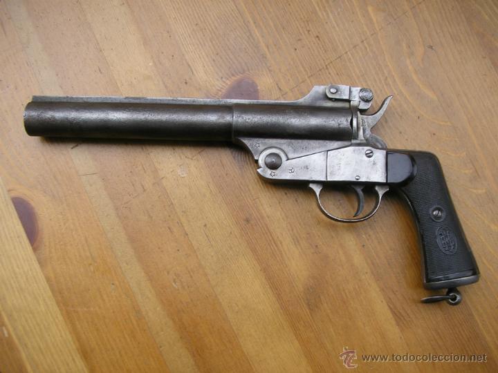 PISTOLA DE SEÑALES MODELO 1921 ESPERANZA Y UNCETA GUERNICA ESPAÑA,NECESARIO LIBRO DEL COLECCIONISTA (Militar - Armas de Fuego en Uso)