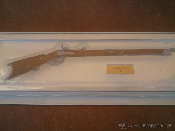Militaria: BONITA REPLICA ARMA DE FUEGO. CARABINA SUIZA.1851. - Foto 2 - 48668004