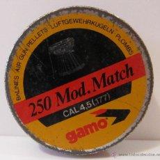 Militaria: CAJA METALICA BALINES GAMO MOD. MATCH CAL. 4,5. Lote 50426007