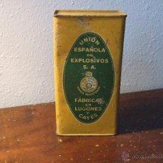 Militaria: ANTIGUA LATA DE POLVORA. Lote 50687394