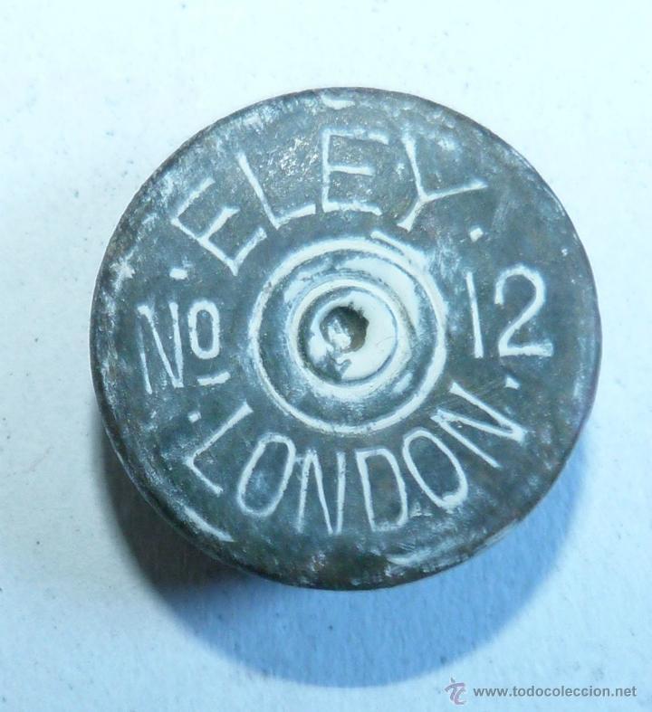 CULOTE ANTIGUO CARTUCHO ELEY LONDON DEL 12 INERTE (Militar - Cartuchería y Munición)