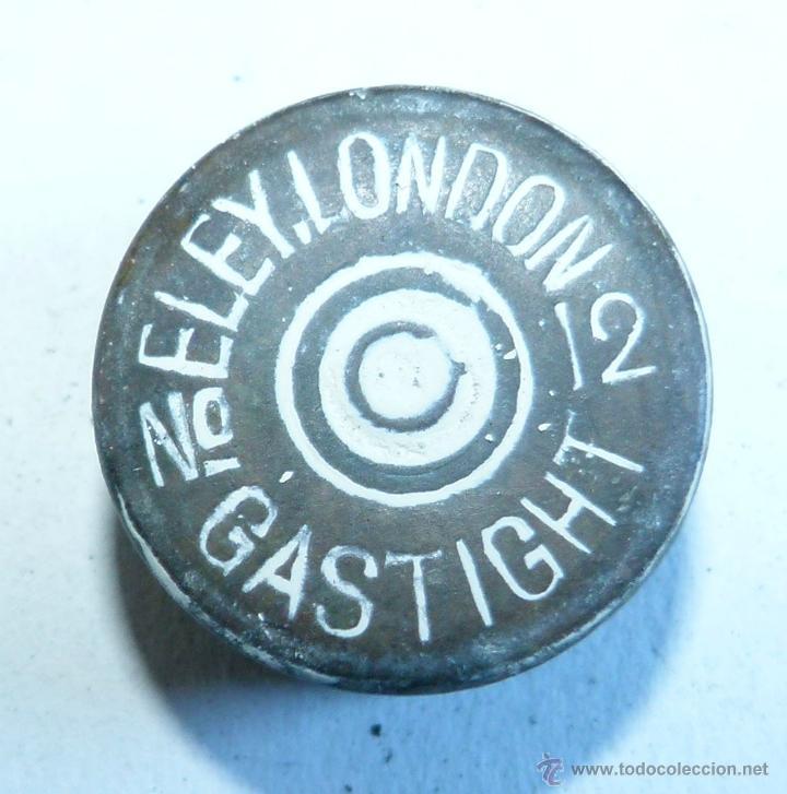 CULOTE ANTIGUO CARTUCHO ELEY GASTIGHTDE LONDRES DEL 12 INERTE (Militar - Cartuchería y Munición)