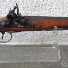 Militaria: RÉPLICA DE PISTOLA CON LLAVE DE CHISPA DEL SIGLO XVIII. Lote 56888885