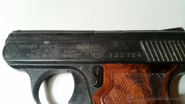 Militaria: PISTOLA DE FOGUEO RHONER SPORTWAFFEN GMBH mod 15 KAL 8mm PTB 83/2 - Foto 4 - 54699617