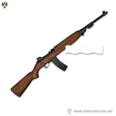 FUSIL RIFLE CARABINA M1 AIRSOFT + MUNICION 6 MM BOLAS P.V.C. 90 CMS
