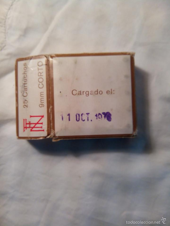 Militaria: Caja de cartuchos Santa Barbara del 9 corto - Foto 3 - 221435721