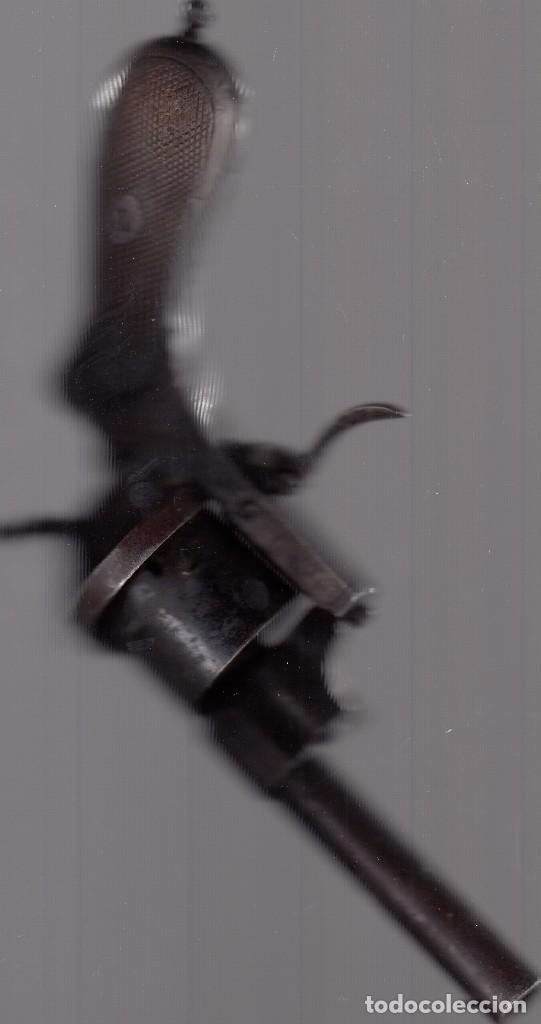 Militaria: Pistola o revólver (de tambor). Unos 100 años de antigüedad. Cañón inutilizado. Buena conservación. - Foto 6 - 182034132