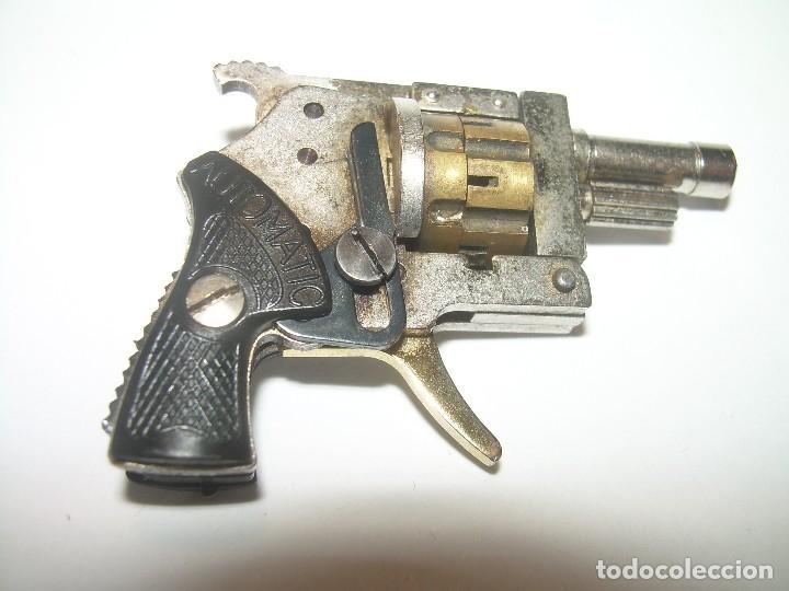ANTIGUO Y MINUSCULO REVOLVER DETONADOR...MADE IN AUSTRIA...ANDRES & DWORSKY. CON CAJA ORIGINAL. (Militar - Armas de Fuego de Avancarga y Complementos)
