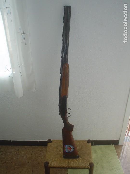 ESCOPETA SUPEPUESTA F. SARASQUETA CAL 12 EYBAR SPAIN (Militar - Armas de Fuego en Uso)