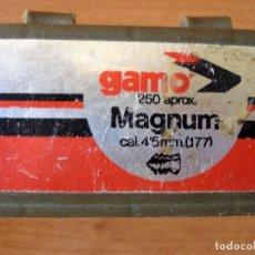 Militaria: CAJA BALINES GAMO MAGNUM 4,5MM. Lote 80009929