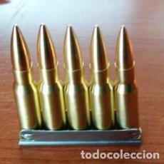 Militaria: PEINE DE 5 CARTUCHOS CALIBRE 7,62X54. Lote 160994281