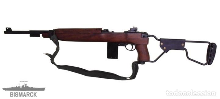 Militaria: USA CARABINA M1A1 1944 MODELO PARACAIDISTA REPLICA DENIX Segunda Guerra Mundial - Foto 4 - 96719411