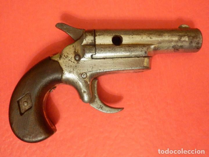 Militaria: Pistola - Colt 1872 - Gun Derringer - Nº 3 - Calibre 41 anular -Un tiro, One Shot - Gatillo muy raro - Foto 3 - 98626659