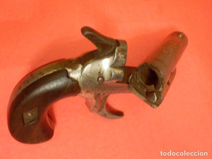 Militaria: Pistola - Colt 1872 - Gun Derringer - Nº 3 - Calibre 41 anular -Un tiro, One Shot - Gatillo muy raro - Foto 5 - 98626659