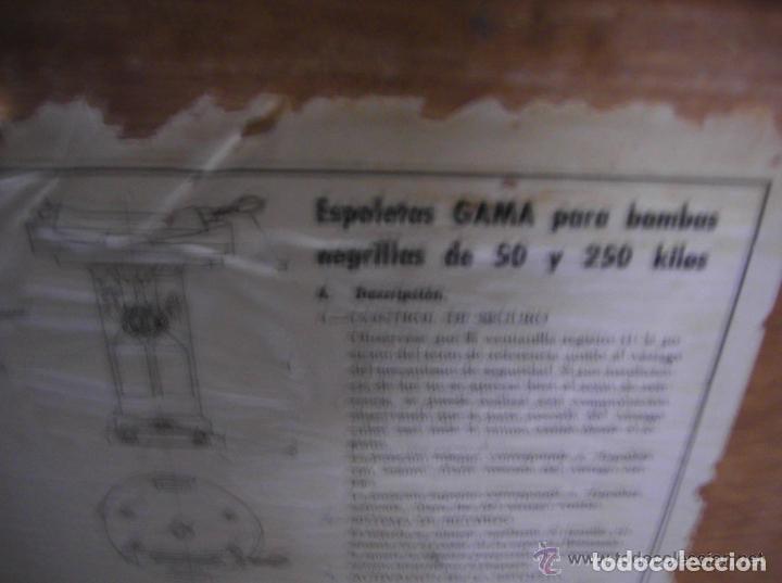 Militaria: CAJA DE MUNICION , DEL EJERCITO DEL AIRE ESPAÑOL, DE MADERA CON EL INTERIOR DE ZINC ,PARA ESPOLETAS - Foto 6 - 99373335