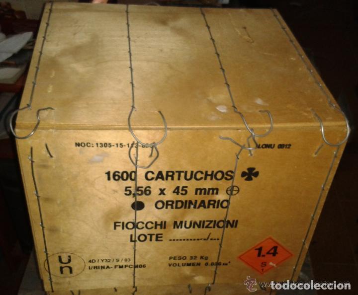 CAJA DE MADERA VACIA, EJERCITO DEL AIRE, UTILIZADA PARA ALMACENAR CARTUCHOS (Militar - Cartuchería y Munición)