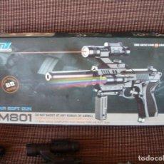 Militaria: PISTOLA DE AIRE COMPRIMIDO AIR SOFT GUN. M-801.INCOMPLETA.. Lote 99841547