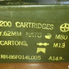 Militaria: CAJA DE MUNICION. Lote 100079474