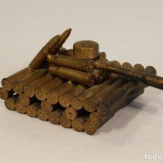 Militaria: TANQUE HECHO CON BALAS DE CETME CALIBRE 19. Lote 100113403