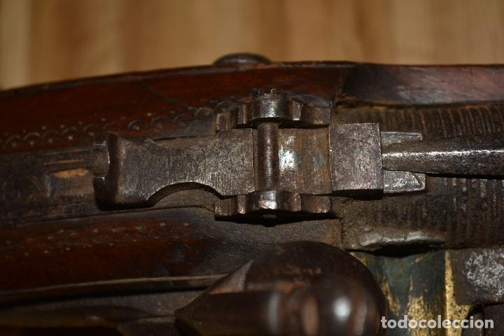 Militaria: Trabuco insólito con bayoneta automática tallado a mano en madera y acero - Foto 5 - 100679759