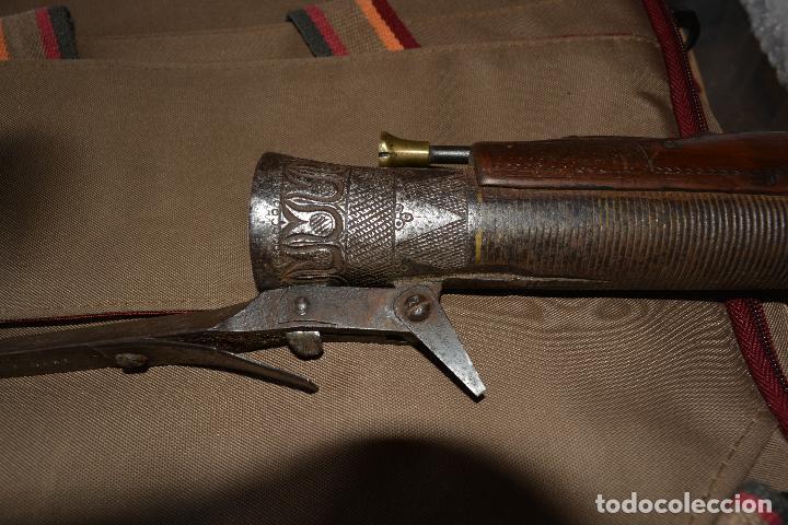 Militaria: Trabuco insólito con bayoneta automática tallado a mano en madera y acero - Foto 6 - 100679759