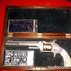Militaria: SMITH & WESSON MODEL NO. 2 ARMY CULATA EN MARFIL TALLADO. Lote 102532891
