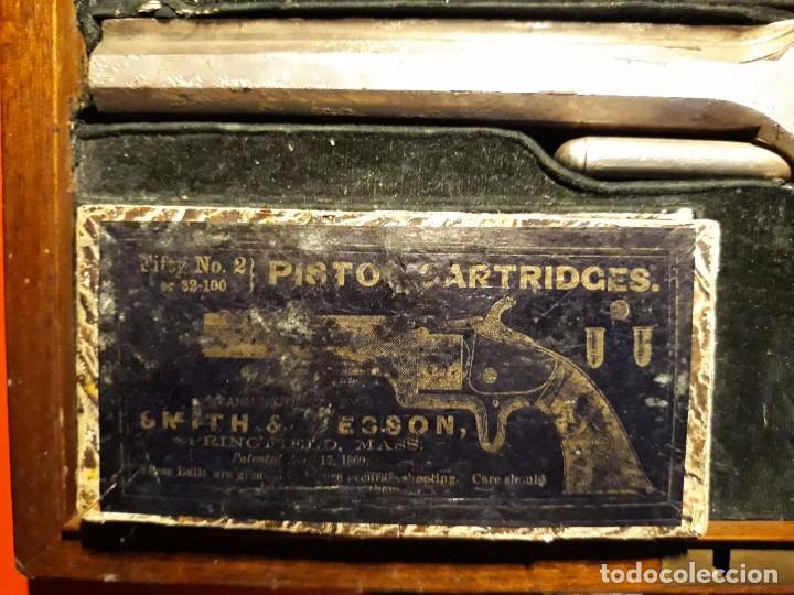 Militaria: Smith & Wesson Model No. 2 Army culata en marfil tallado - Foto 9 - 102532891